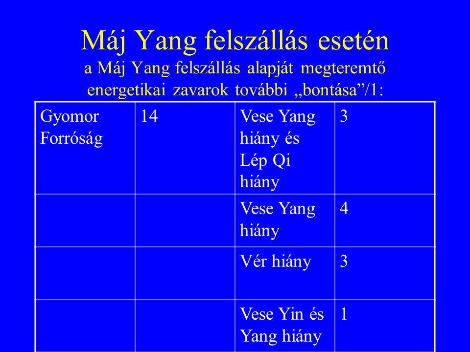 """Máj Yang felszállás esetén a Máj Yang felszállás alapját megteremtő energetikai zavarok további """"bontása /1:"""