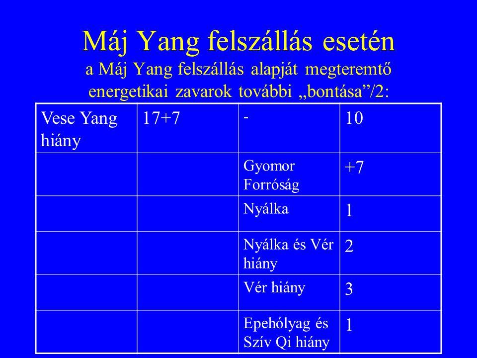 """Máj Yang felszállás esetén a Máj Yang felszállás alapját megteremtő energetikai zavarok további """"bontása /2:"""