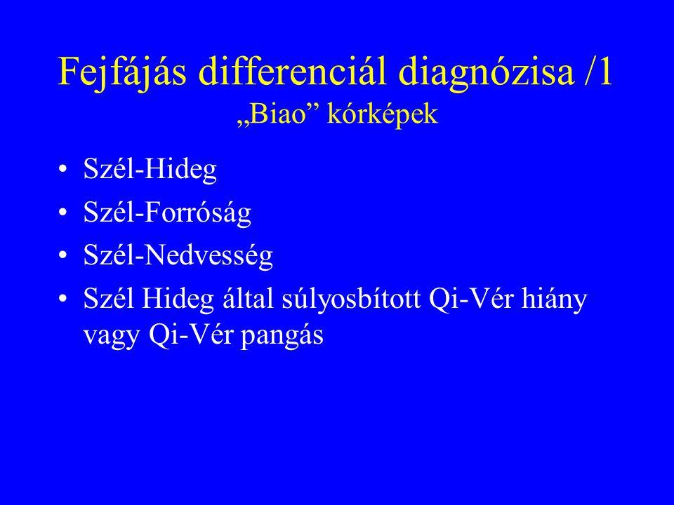 """Fejfájás differenciál diagnózisa /1 """"Biao kórképek"""