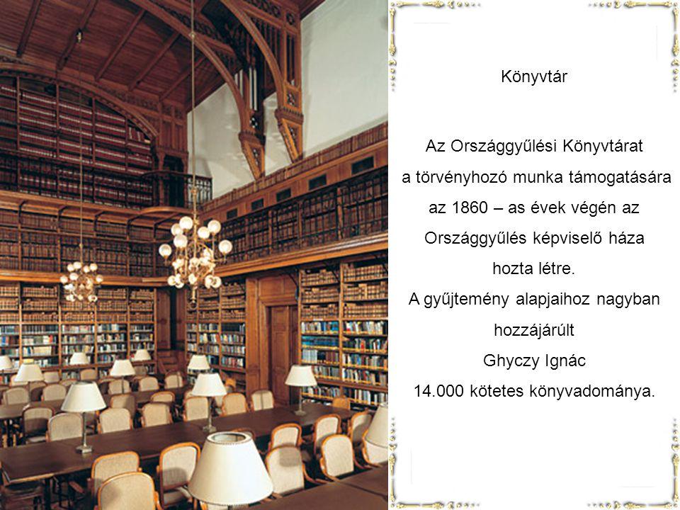Az Országgyűlési Könyvtárat a törvényhozó munka támogatására