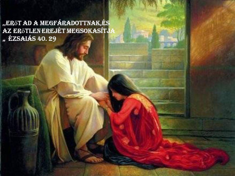 """,,Erőt ad a megfáradottnak,és az erőtlen erejét megsokasítja """" Ézsaiás 40. 29"""
