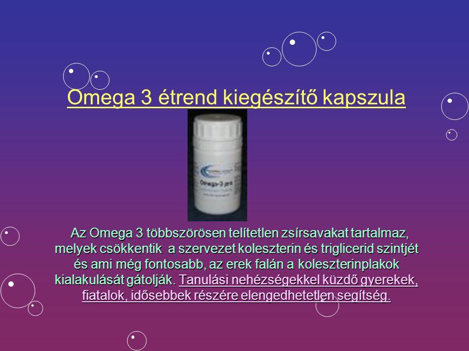 Omega 3 étrend kiegészítő kapszula