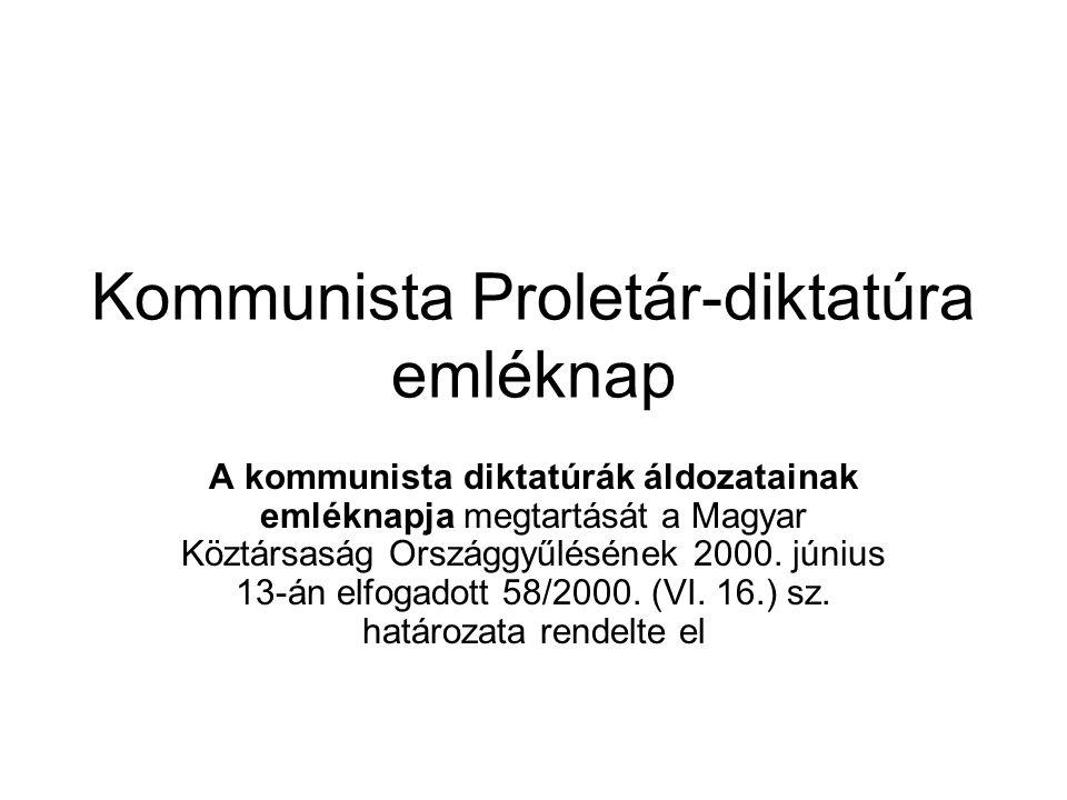 Kommunista Proletár-diktatúra emléknap