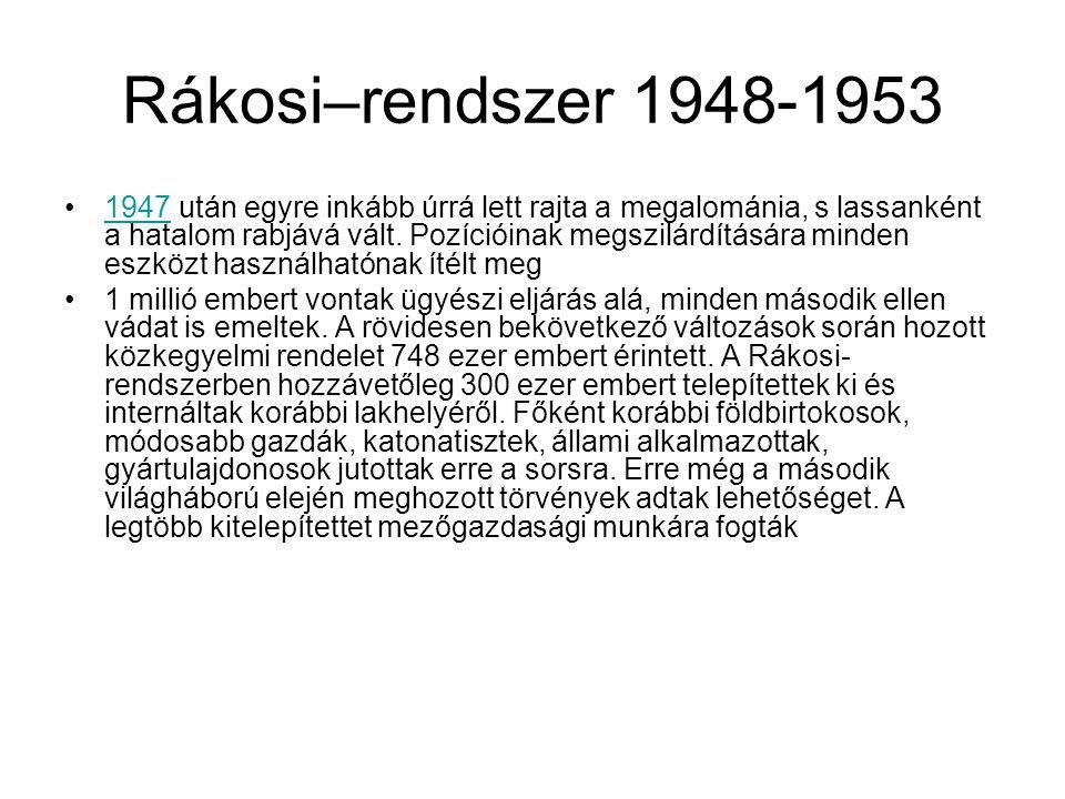 Rákosi–rendszer 1948-1953