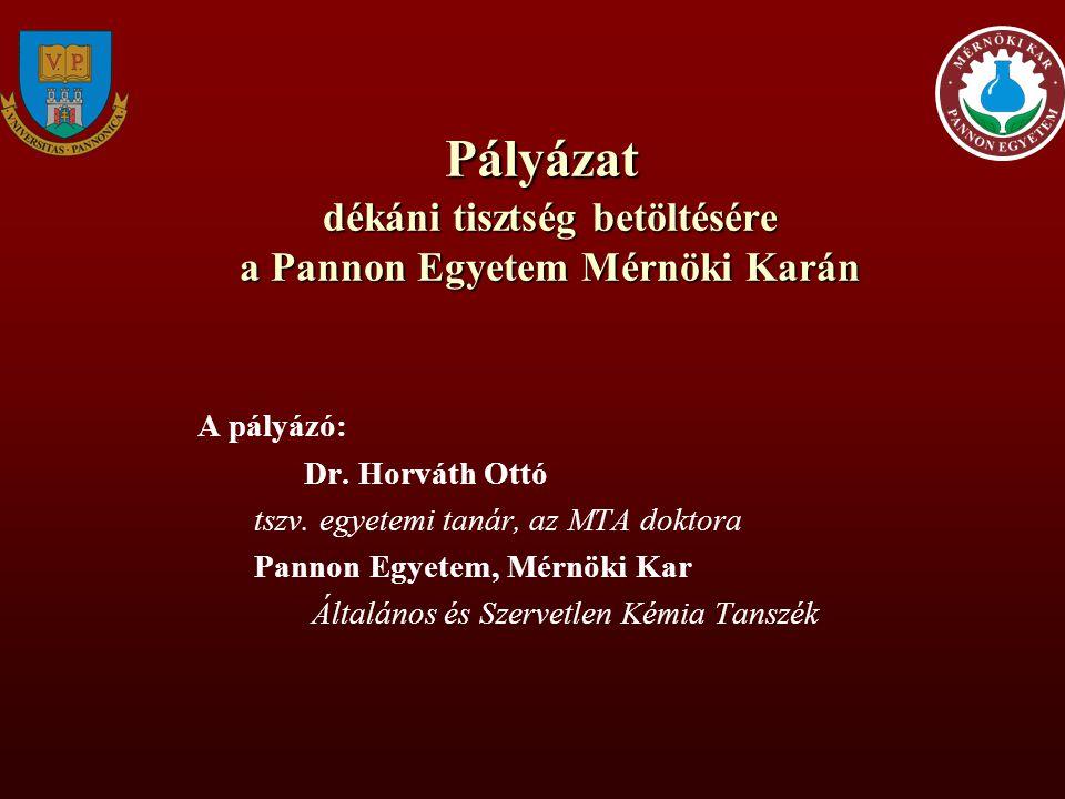 Pályázat dékáni tisztség betöltésére a Pannon Egyetem Mérnöki Karán