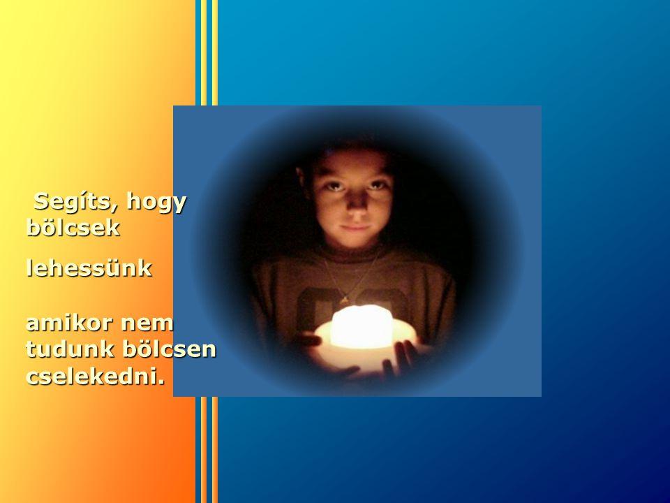 Segíts, hogy bölcsek lehessünk amikor nem tudunk bölcsen cselekedni.