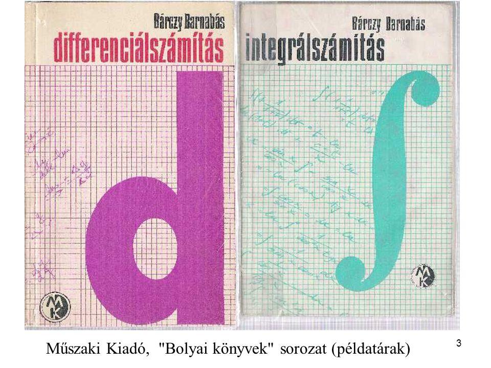 Műszaki Kiadó, Bolyai könyvek sorozat (példatárak)