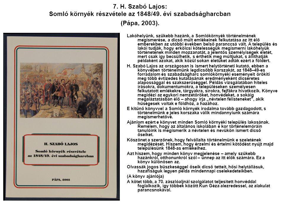 7. H. Szabó Lajos: Somló környék részvétele az 1848/49