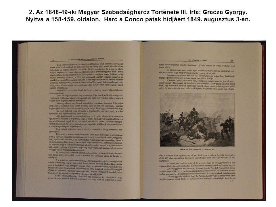 2. Az 1848-49-iki Magyar Szabadságharcz Története III