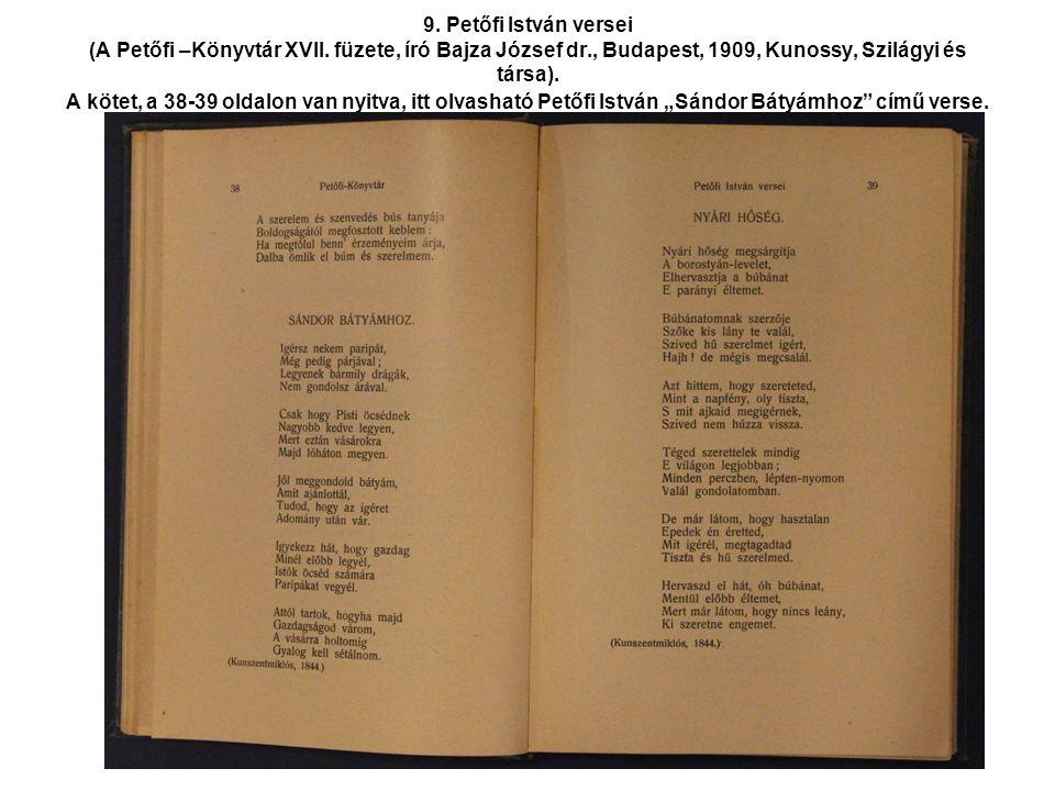 9. Petőfi István versei (A Petőfi –Könyvtár XVII