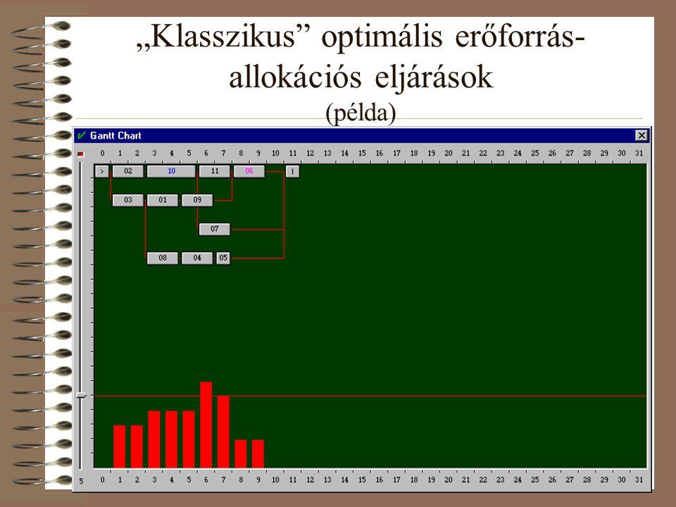 """""""Klasszikus optimális erőforrás-allokációs eljárások (példa)"""