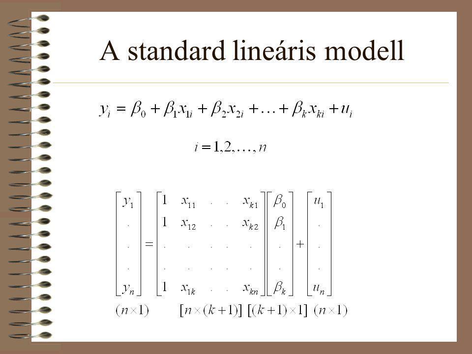 A standard lineáris modell