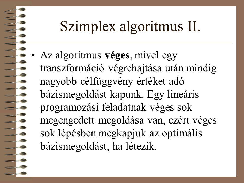 Szimplex algoritmus II.