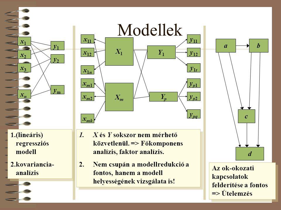 Modellek x11 y11 x1 X1 a b y1 Y1 x12 y12 x2 y2 x3 y1t x1n xm1 yp1 Xm