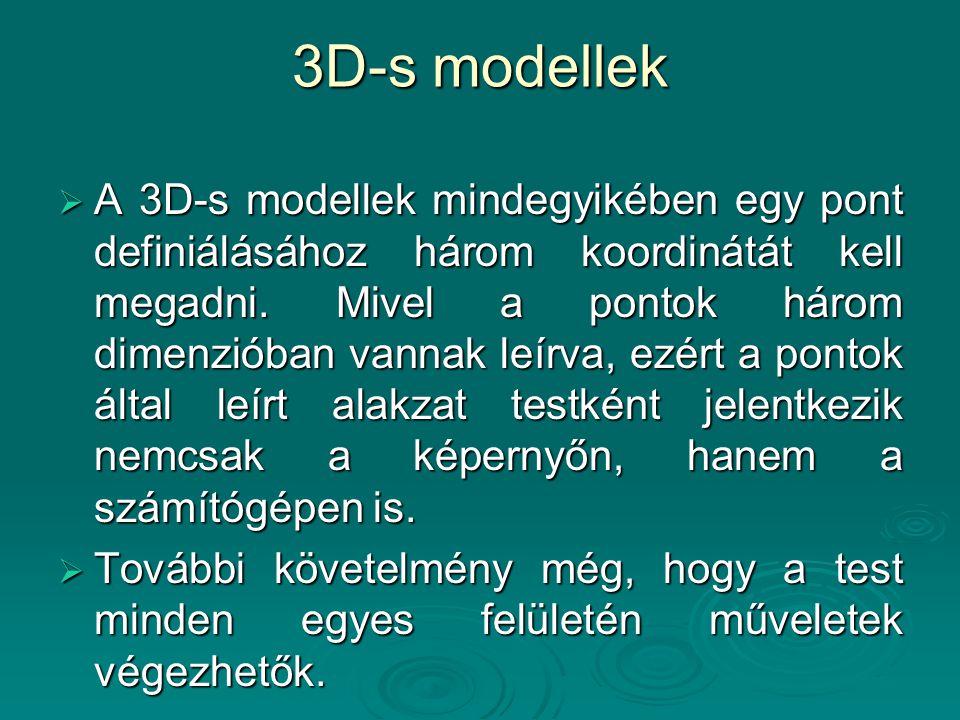 3D-s modellek