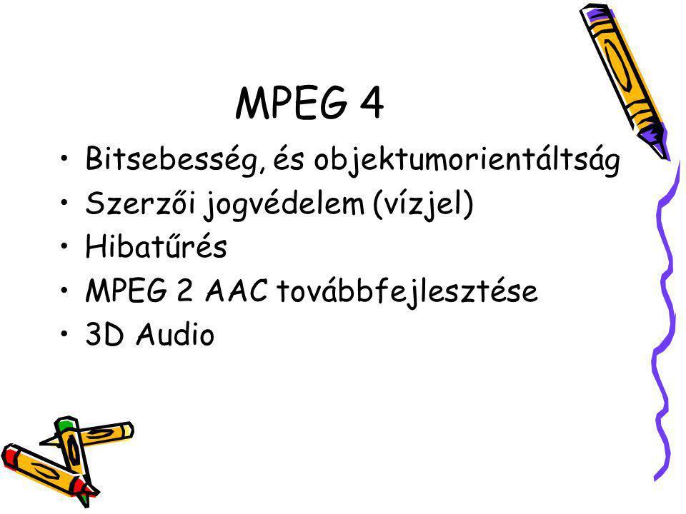 MPEG 4 Bitsebesség, és objektumorientáltság