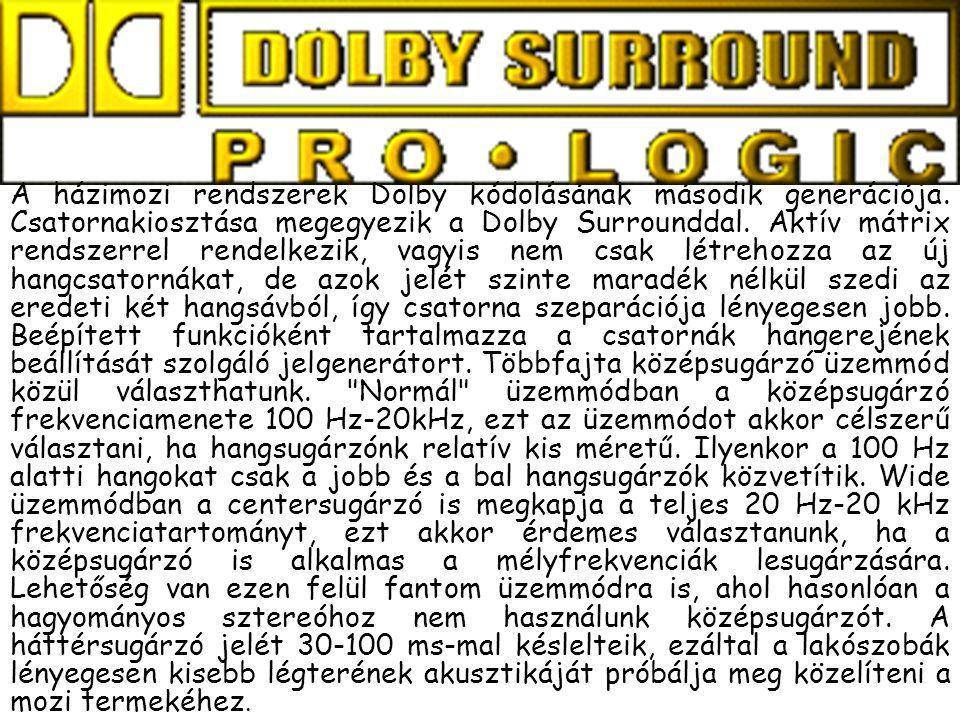 A házimozi rendszerek Dolby kódolásának második generációja
