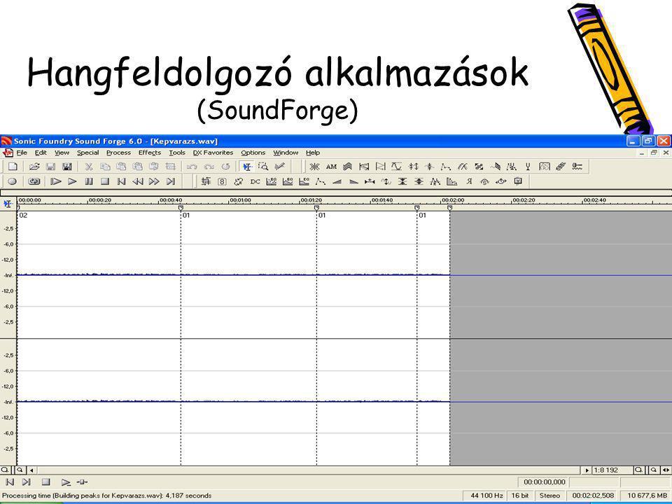 Hangfeldolgozó alkalmazások (SoundForge)