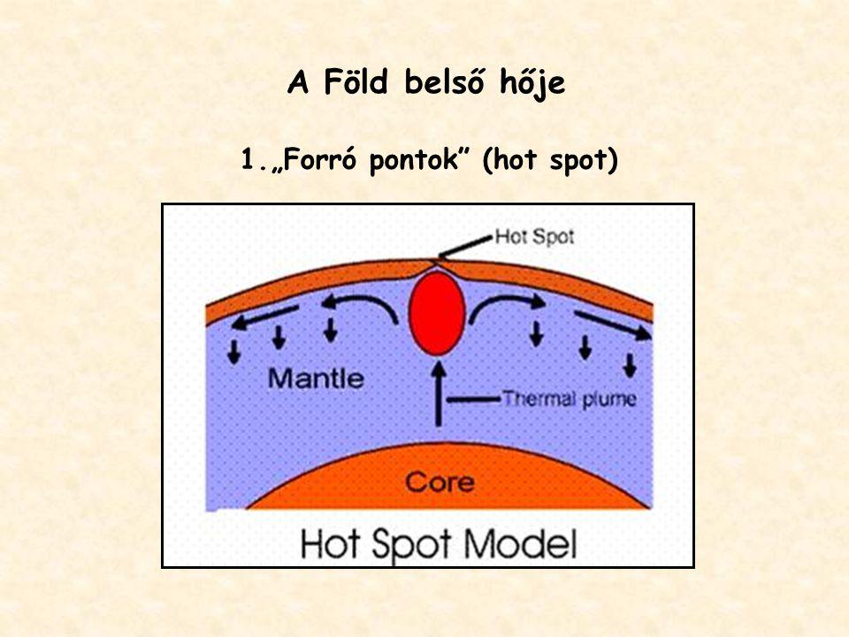 """A Föld belső hője """"Forró pontok (hot spot)"""