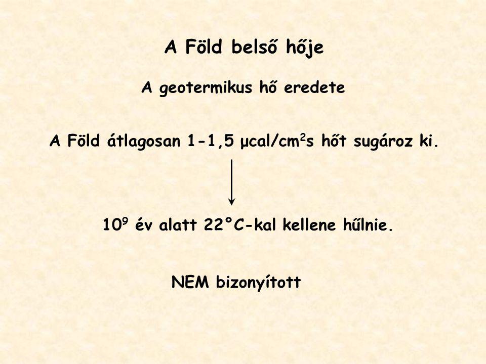 A Föld belső hője A geotermikus hő eredete