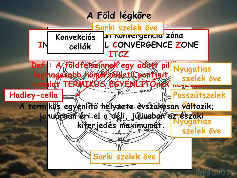 A Föld légköre A légkör áramlási rendszerei
