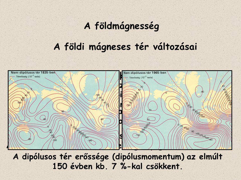 A földmágnesség A földi mágneses tér változásai