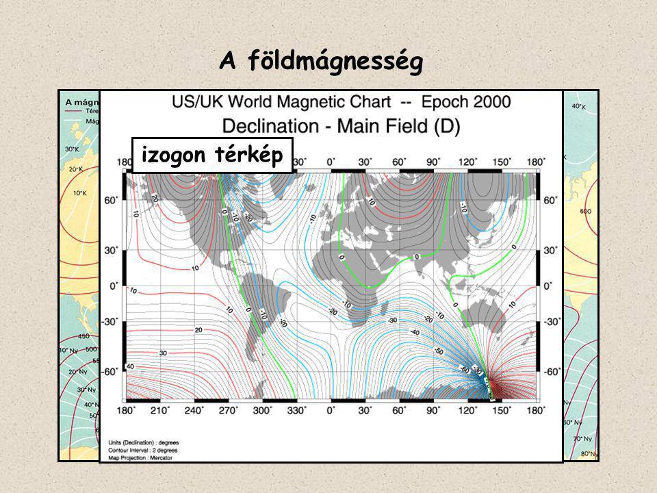 A földmágnesség izogon térkép