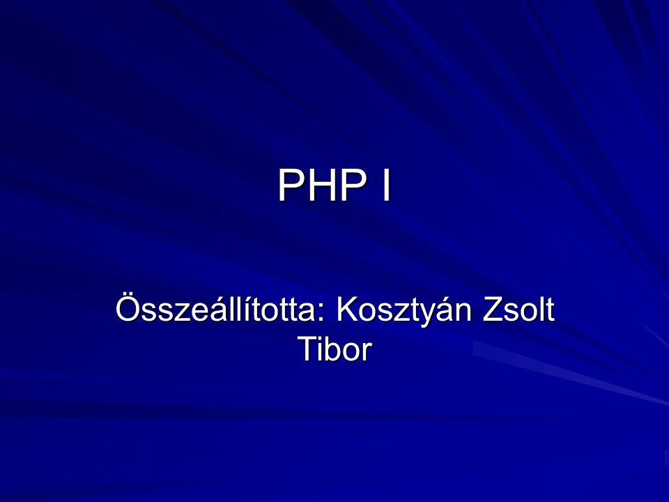 Összeállította: Kosztyán Zsolt Tibor