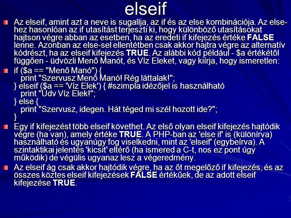elseif