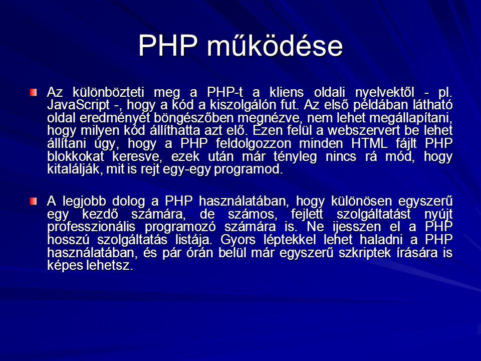 PHP működése