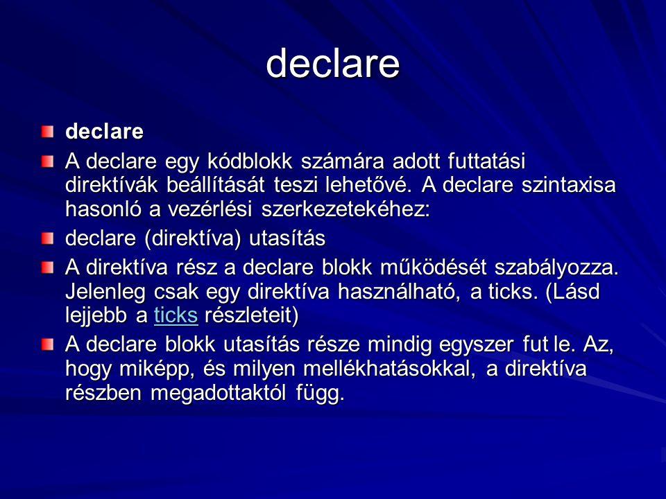declare declare.