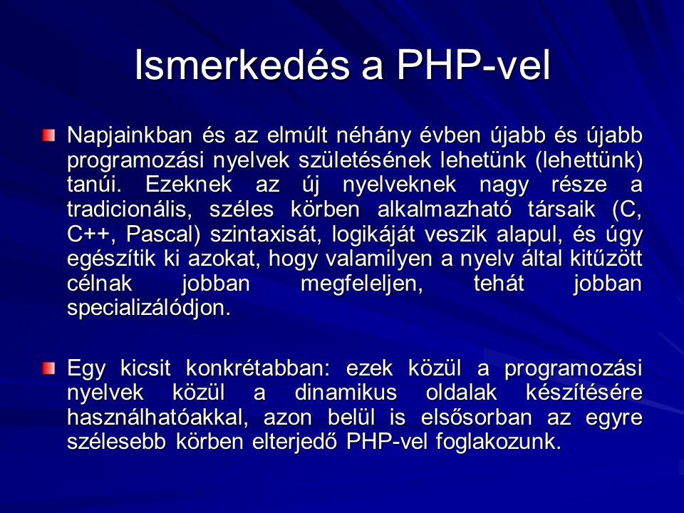 Ismerkedés a PHP-vel