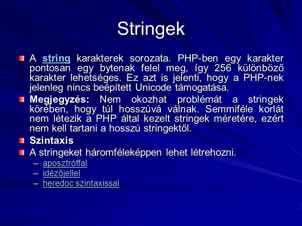 Stringek