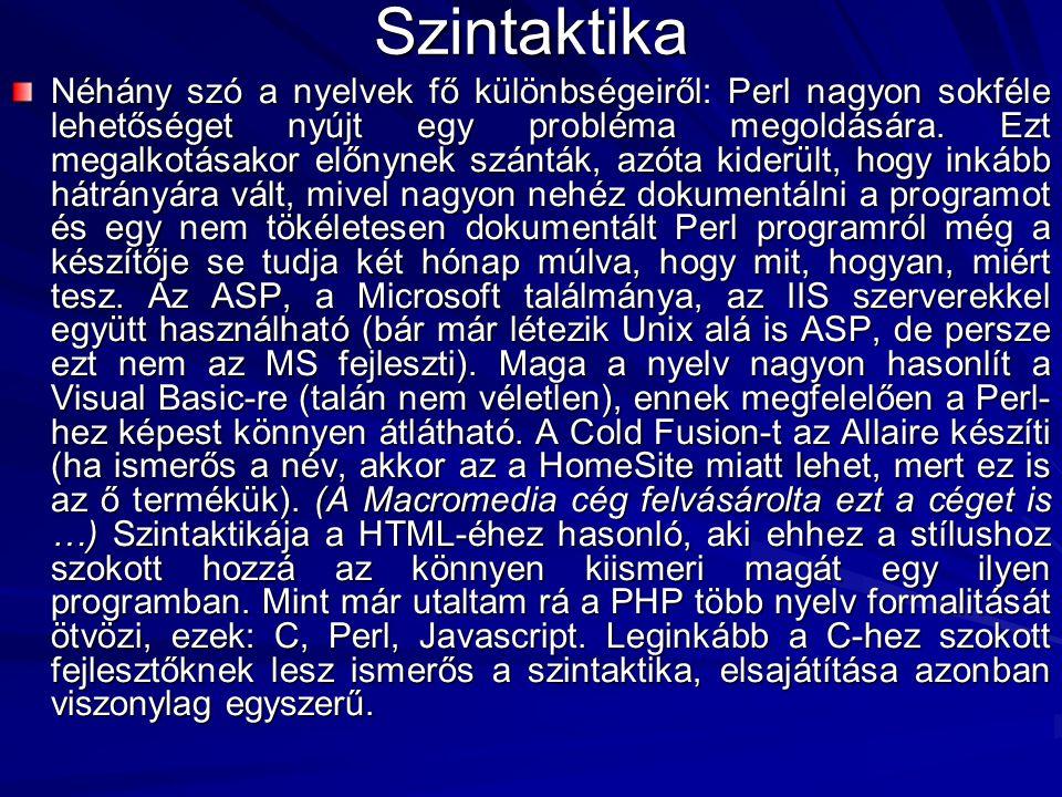 Szintaktika