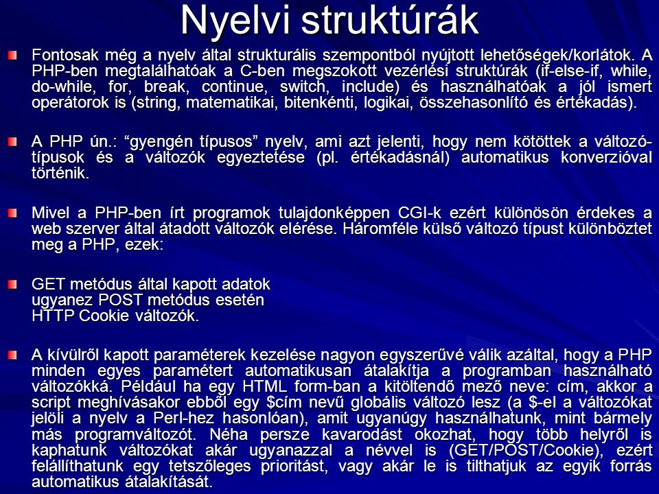 Nyelvi struktúrák
