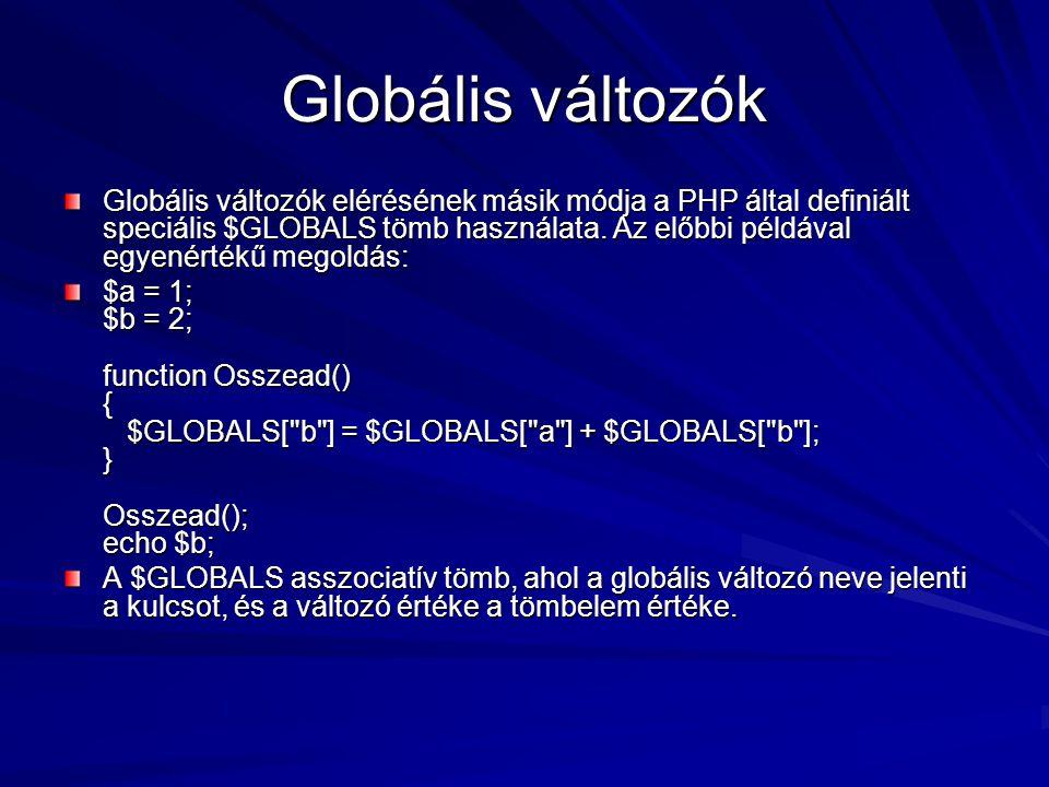 Globális változók