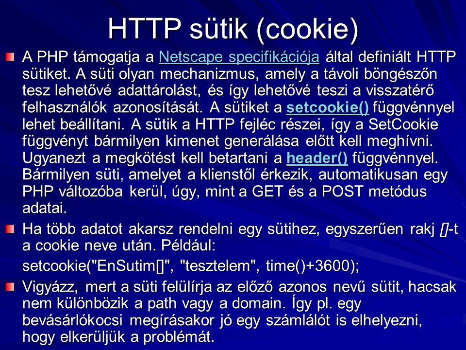 HTTP sütik (cookie)