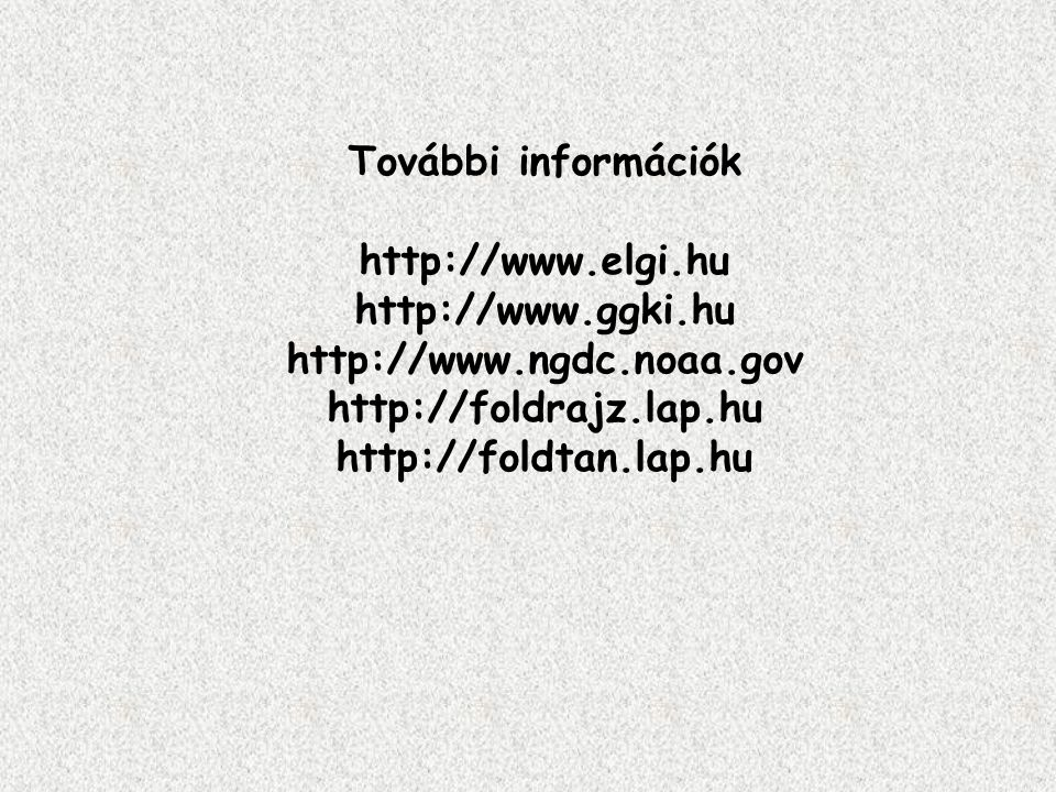 További információk http://www. elgi. hu http://www. ggki