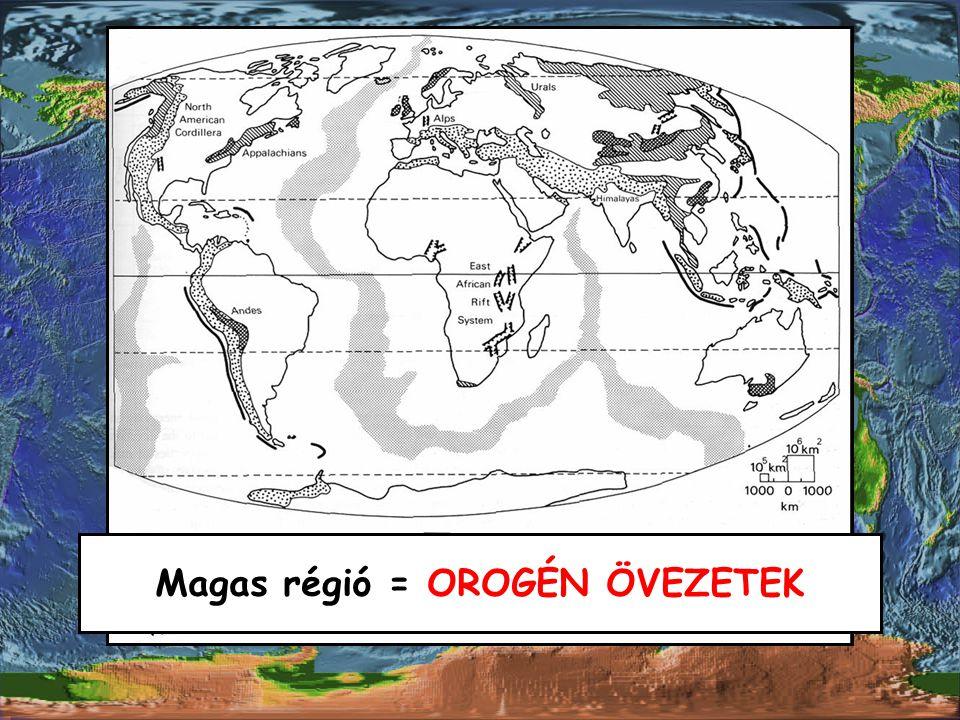 Magas régió = OROGÉN ÖVEZETEK