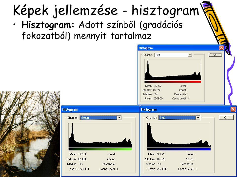 Képek jellemzése - hisztogram