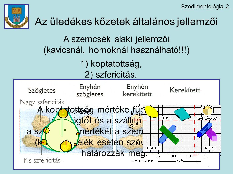 Az üledékes kőzetek általános jellemzői