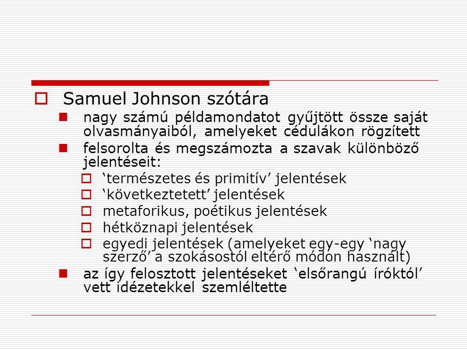 Samuel Johnson szótára