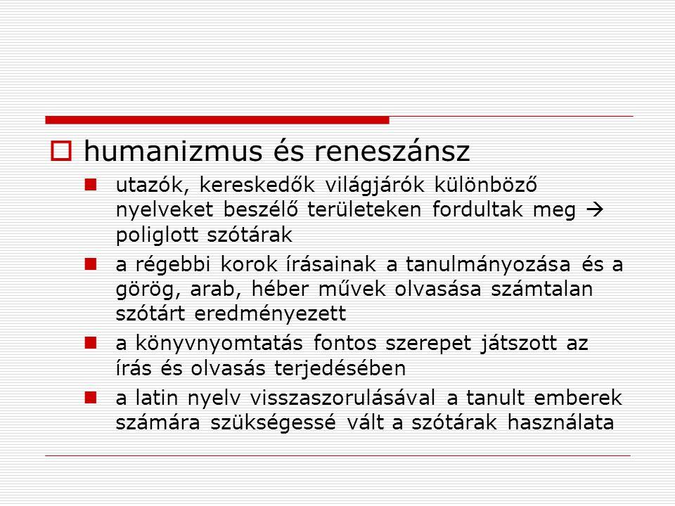 humanizmus és reneszánsz