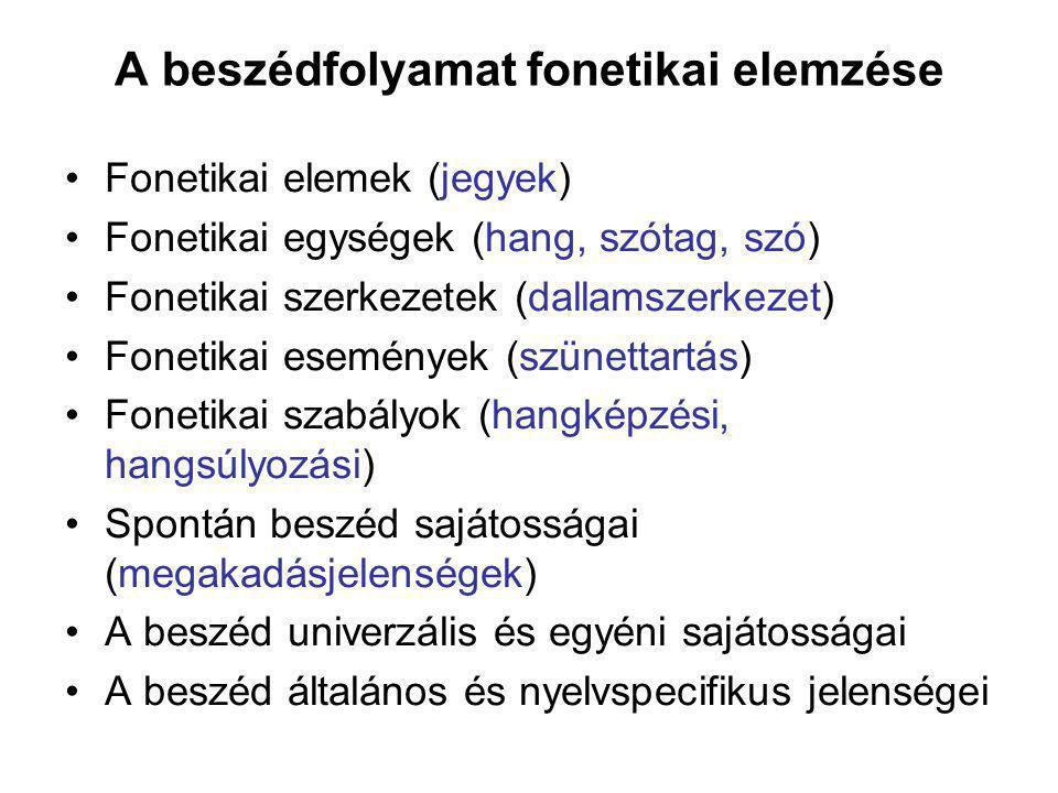 A beszédfolyamat fonetikai elemzése