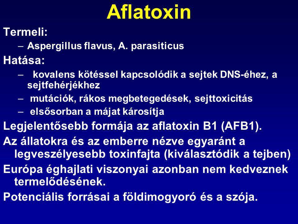 Aflatoxin Termeli: Hatása: