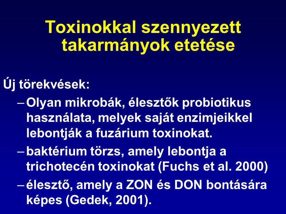 Toxinokkal szennyezett takarmányok etetése