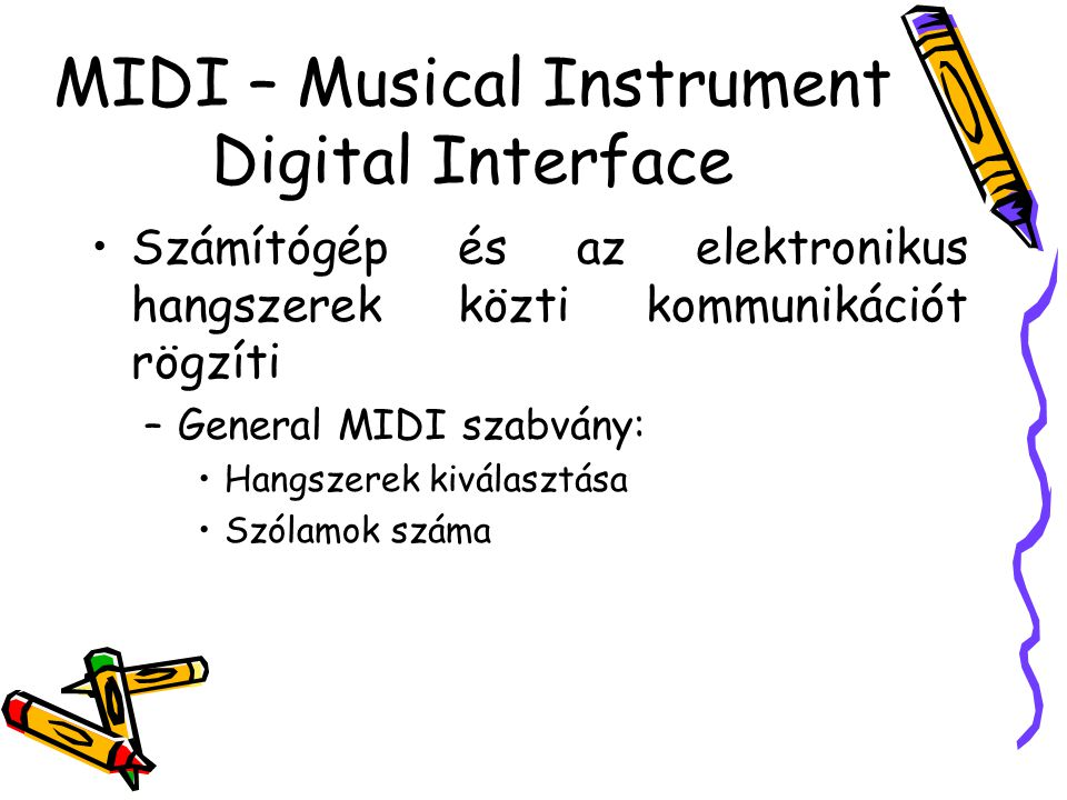 MIDI – Musical Instrument Digital Interface