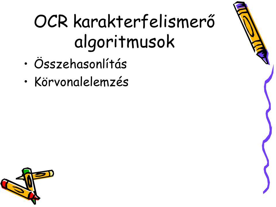 OCR karakterfelismerő algoritmusok