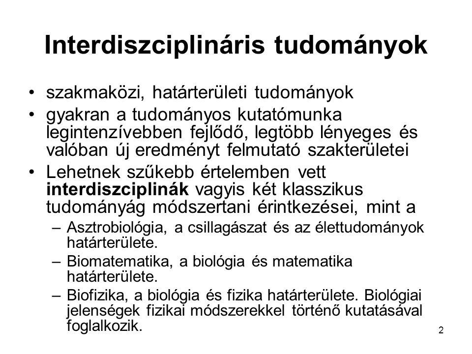 Interdiszciplináris tudományok