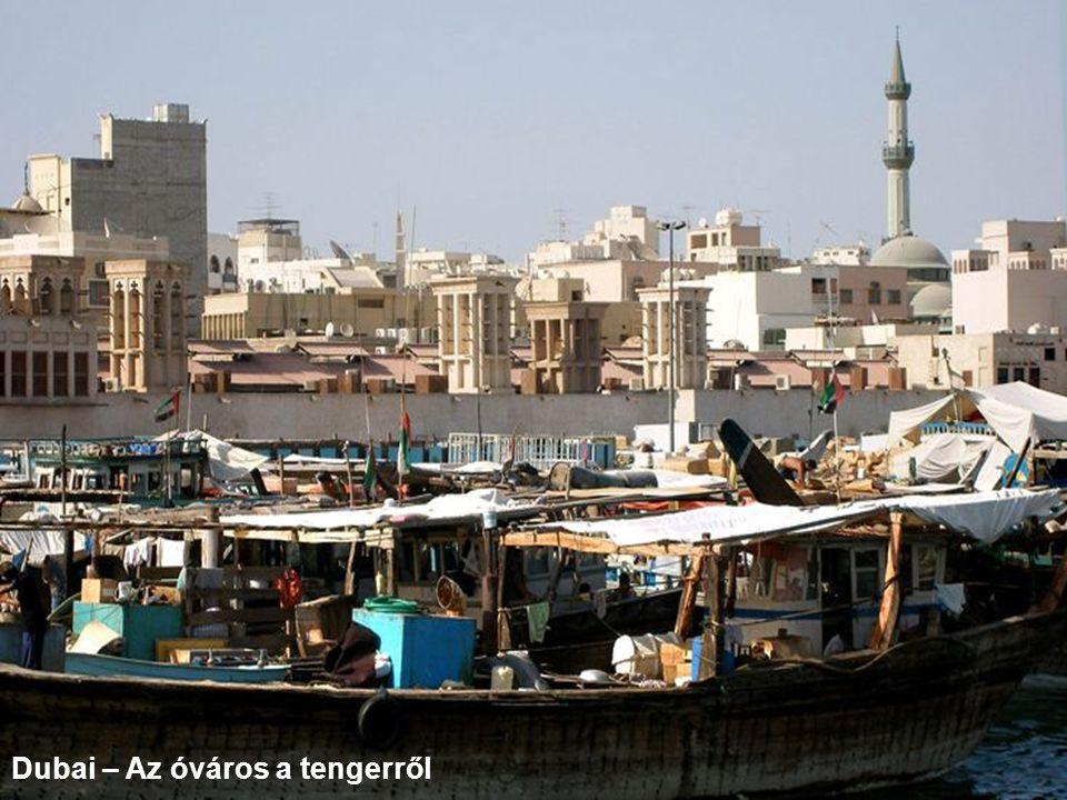 Dubai – Az óváros a tengerről